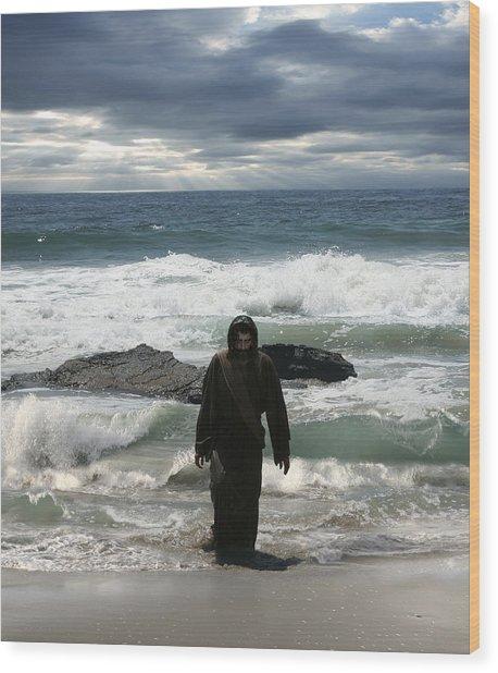 Jesus Christ- Look I Am Coming Soon Wood Print