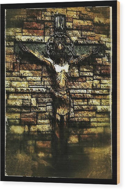 Wood Print featuring the photograph Jesus Coming Into View by Al Harden