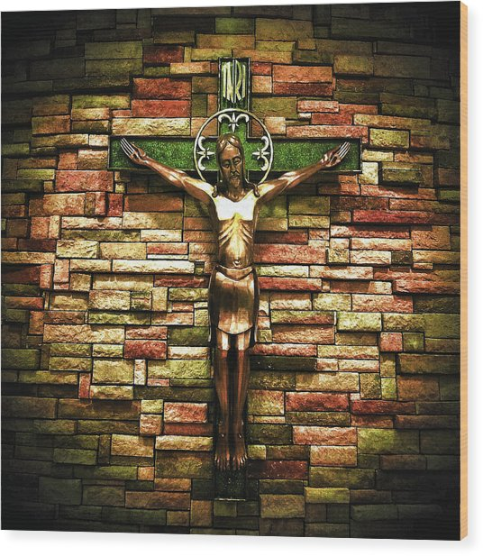 Wood Print featuring the photograph Jesus Is His Name by Al Harden