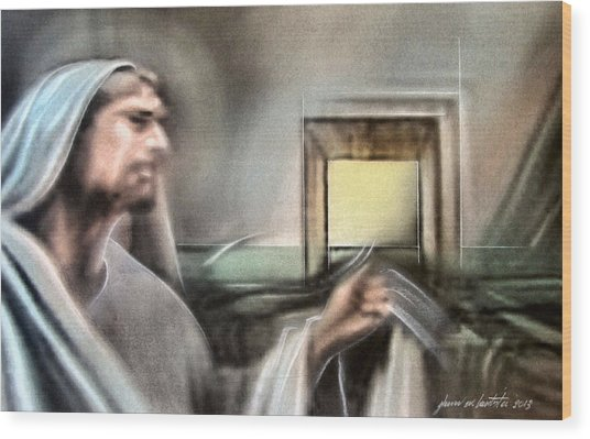 Jesus - Knocking 2013 Wood Print