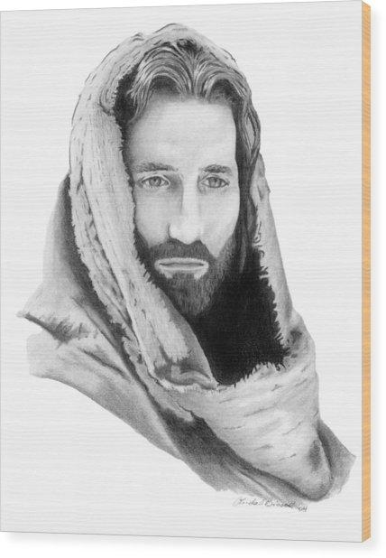 Jesus Wood Print by Linda Bissett