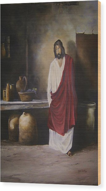 Jesus- The First Miracle- Wood Print by James Neeley