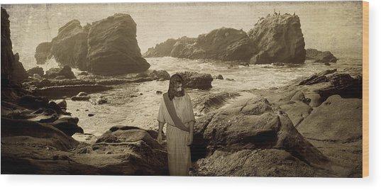 Jesus Walks Among Angels Wood Print