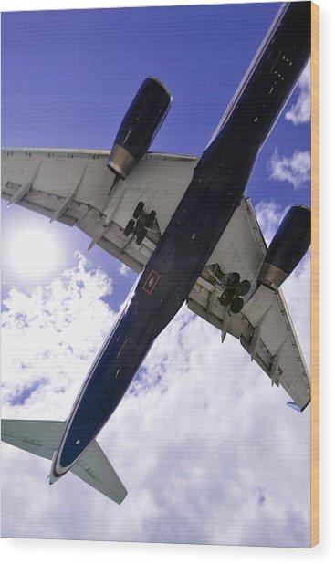 Jet Under Belly 2 Wood Print