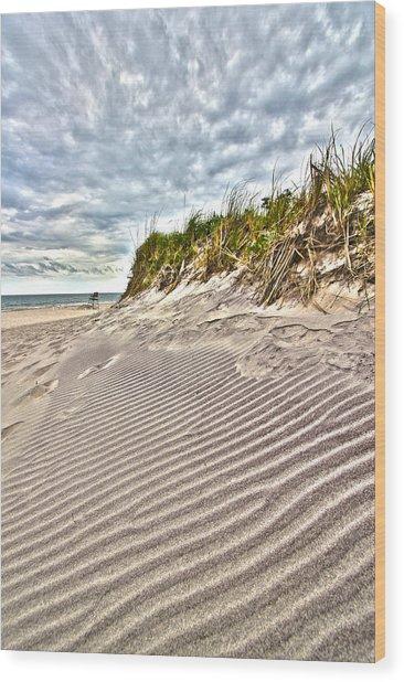 Jetty Four Dune Stripes Wood Print