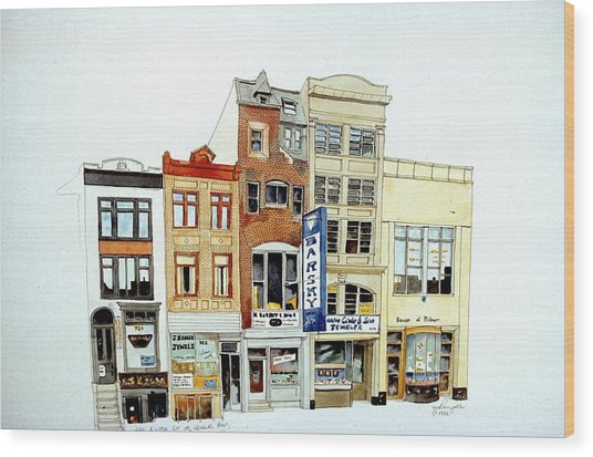 Jeweler's Row Wood Print