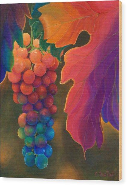 Jewels Of The Vine Wood Print
