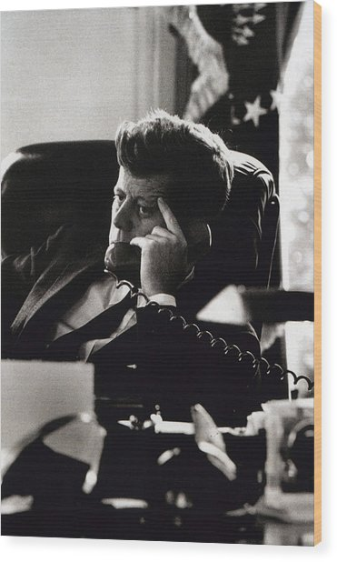 John F. Kennedy By Arthur Rickerby Wood Print by Retro Images Archive