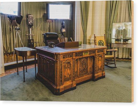 Jfk's Oval Office Wood Print