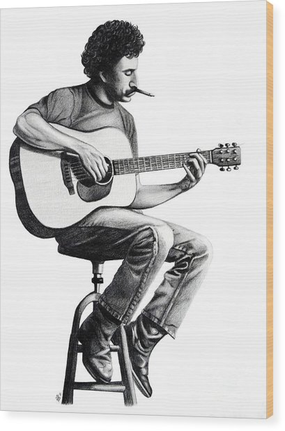 Jim Croce Wood Print