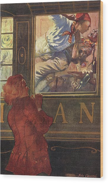 Jim Hawkins Sees Israel Hands  And Red Wood Print by Mary Evans Picture Library