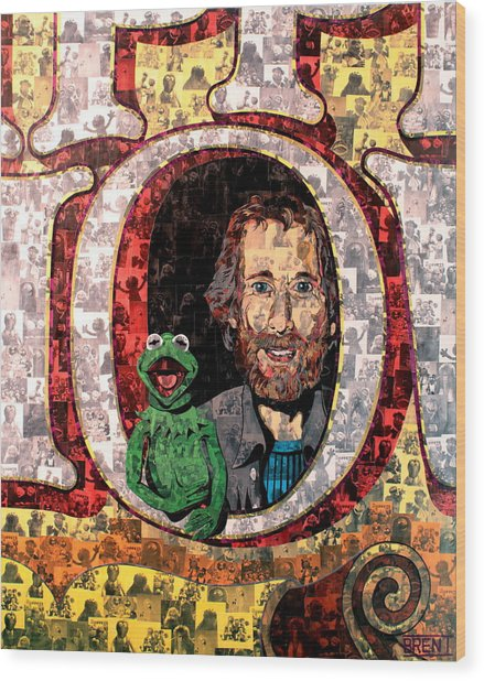 Jim Henson Wood Print