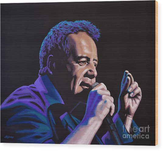 Jim Kerr Of The Simple Minds Painting Wood Print