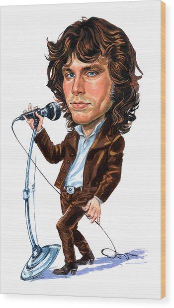 Jim Morrison Wood Print by Art