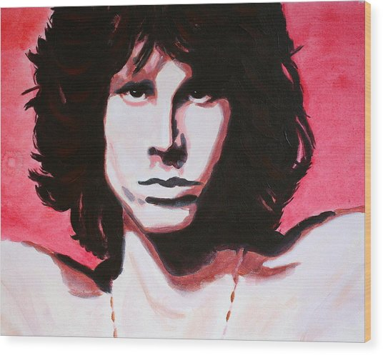 Jim Morrison Of The Doors Wood Print