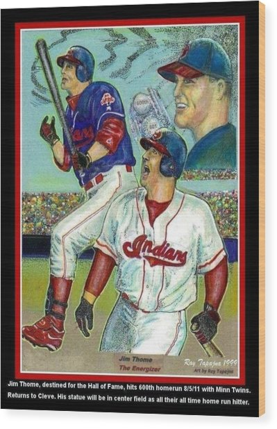 Jim Thome Cleveland Indians Wood Print