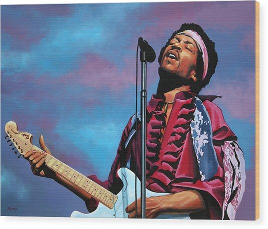 Jimi Hendrix 2 Wood Print