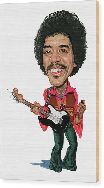 Jimi Hendrix Wood Print by Art