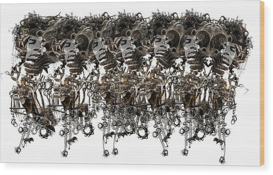Jimi Hendrix II Wood Print