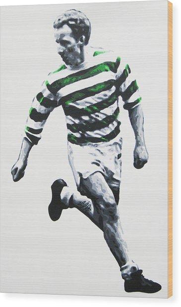 Jimmy Johnstone - Celtic Fc Wood Print