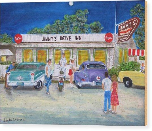 Jimmy's Drive Inn Wood Print