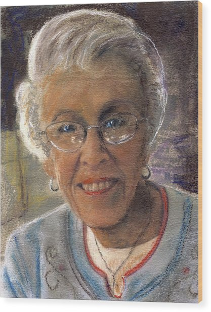 Jim's Mom Lois  Wood Print