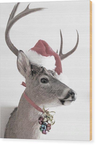 Jingle Deer Wood Print