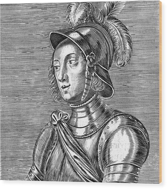 Joan Of Arc  French Heroine Wood Print by Mary Evans Picture Library