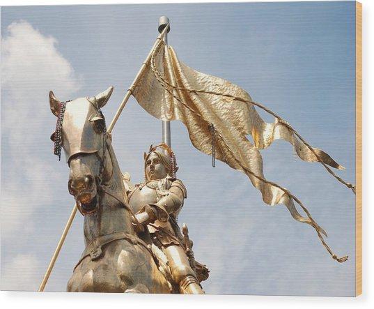 Joan Of Arc Wood Print by Pamela Schreckengost