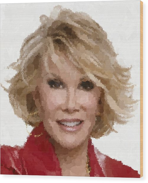 Joan Rivers Portrait Wood Print
