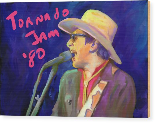 Joe Ely Wood Print by G Cannon