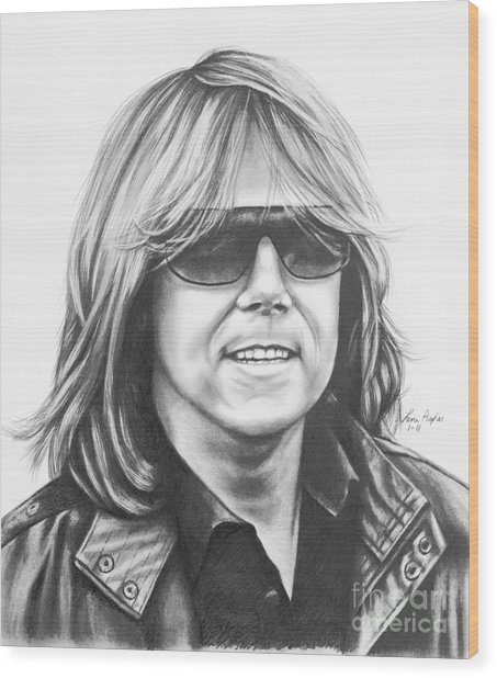 Joey Tempest Wood Print by Lena Auxier