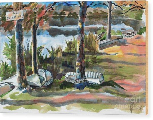 John Boats And Row Boats Wood Print