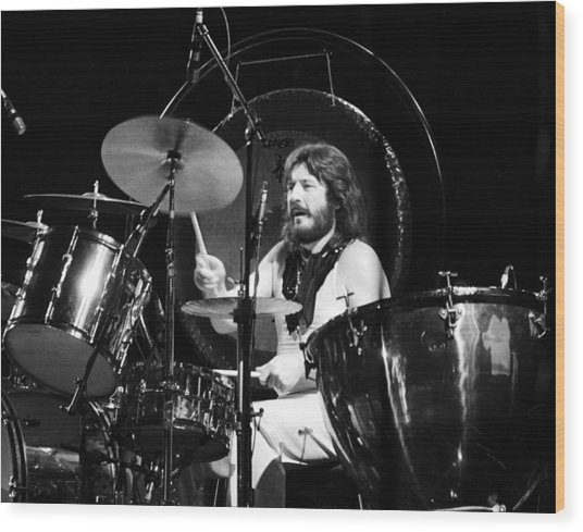 John Bonham 1977 Led Zeppelin Wood Print