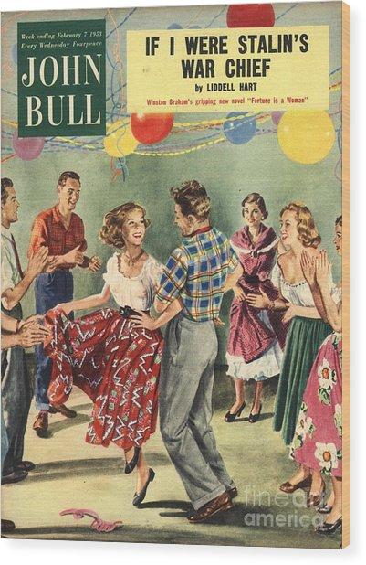 John Bull 1950s Uk  Line Country Square Wood Print