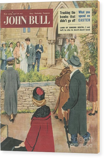 John Bull 1950s Uk Love Marriages Wood Print by The Advertising Archives