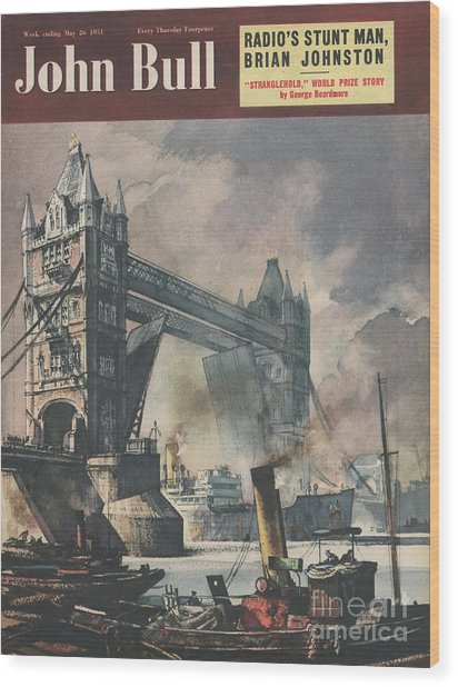 John Bull 1951 1950s Uk Tower Bridge Wood Print by The Advertising Archives