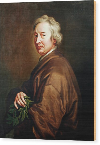 John Dryden Wood Print by Bodleian Museum/oxford University Images