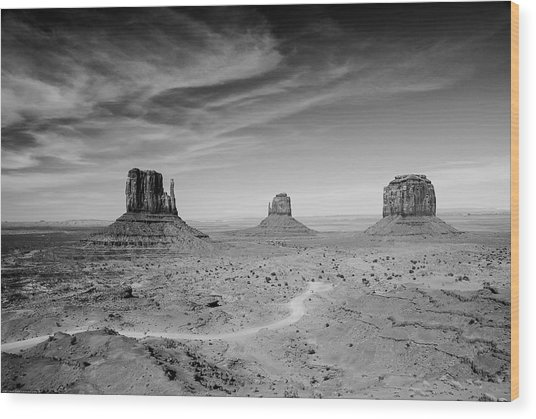 John Ford View Of Monument Valley Wood Print