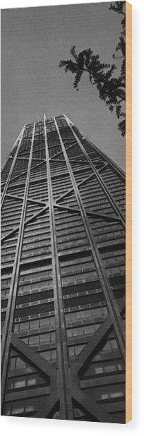 John Hancock Building Wood Print