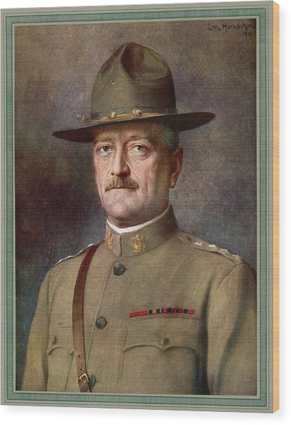 John Joseph Pershing    Nicknamed Black Wood Print by Mary Evans Picture Library
