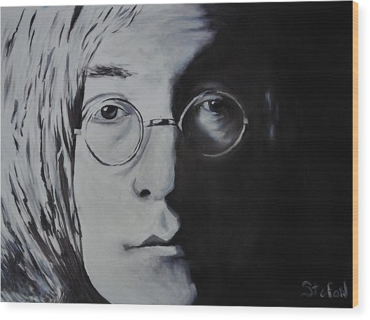 John Lennon Wood Print by Stefon Marc Brown