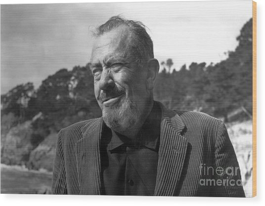 John Steinbeck Pebble Beach, Monterey, California 1960 Wood Print