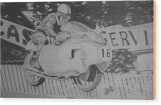 John Surtees Wood Print by Jose Mendez