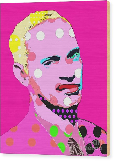 John Waters Wood Print by Ricky Sencion