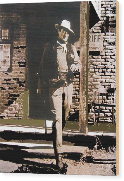 John Wayne Exciting The Sheriff's Office Rio Bravo Set Old Tucson Arizona 1959-2013 Wood Print