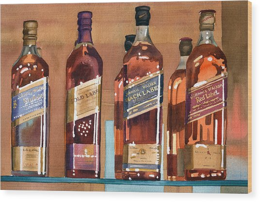 Johnnie Walker Wood Print