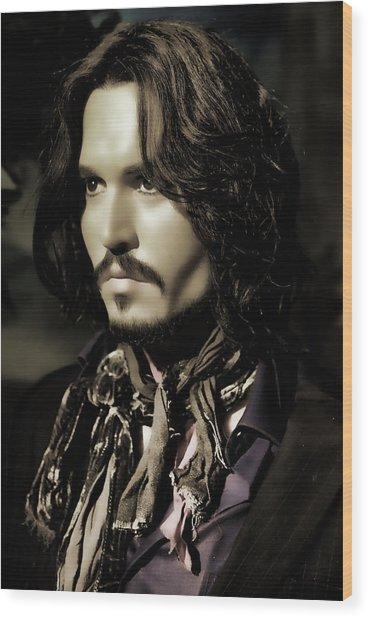 Johnny Depp Wood Print by Lee Dos Santos