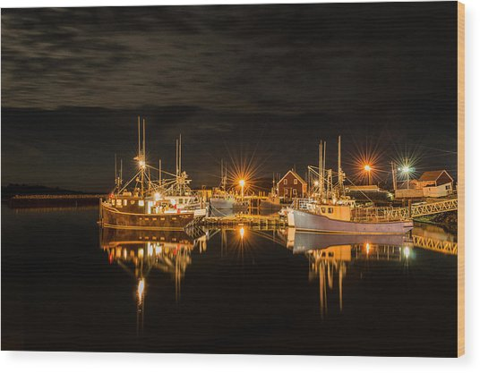 John's Cove Reflections Wood Print