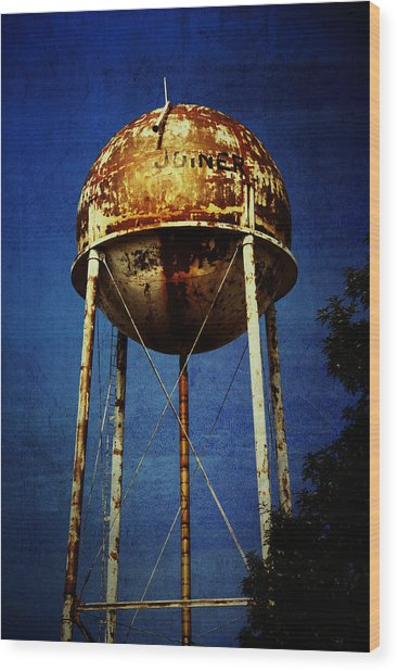 Joiner Water Tower Wood Print